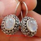 Rainbow Moonstone Filigree Sterling Silver Earrings ER-654-NY