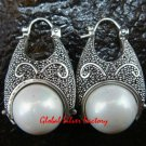 Sterling Silver White Pearl Earrings ER-634-KT