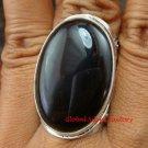 Chunky Sterling Silver & Black Onyx Unisex Ring RI-373-KT