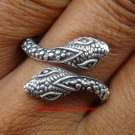 Sterling Silver Double Head Snake Ring SR-144-KT
