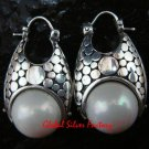 Sterling Silver White Pearl Earrings ER-636-KT