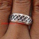 Sterling Silver Men, Women, Unisex Band Ring/ Spinner Ring SR-145-KA