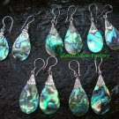5x Wholesale Silver & Mixed Paua Shell Earrings SSB-327-GSF