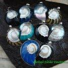 10x Wholesale 925 Silver Nautilus Shell Pendants Assorted Designs SSB-331-GSF
