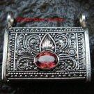 Handcrafted 925 Silver Bali Keepsake Pendant Garnet LP-200-IKP