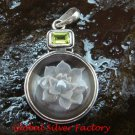 925 Silver & Peridot Crystal Pendant SP-635-KT