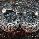 Sterling Silver Filigree  Round Hoop Earrings SE-202-KT