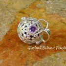 Silver and Amethyst Harmony Ball Pendant HB-396-KT