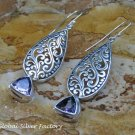 Silver and Amethyst Balinese Design Earrings ER-812-KT