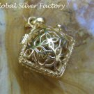 Silver and 22k Gold Plated Harmony Ball Pendant GPP-112-KT