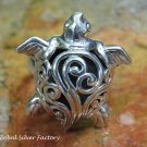 Sterling Silver High Polish Sea Turtle Ring SR-215-KT