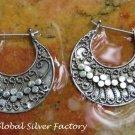 Sterling Silver Balinese Style Earrings SE-260-KA
