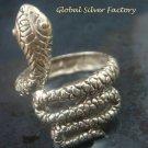 Sterling Silver Coiled Snake Ring SR-191-KT