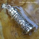Sterling Silver Twisted Wire Flower Cremation Pendant PP-485-KT