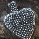 Large Sterling Silver Romantic Love Heart Pendant SSP-155-KT