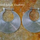 Sterling Silver Hoop Earrings SE-249-KA