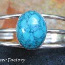 Gorgeous Sterling Silver & Turquoise Bangle SBB-452-KA