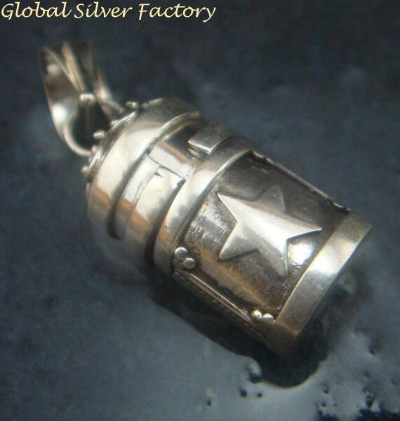 Sterling Silver Small Size Perfume Cremation Pendant PP-448-KT