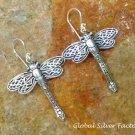 Sterling Silver Dragonfly Earrings SE-254-KT