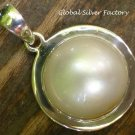 Sterling Silver and Mabes Pearl Pendant SP-763-KT