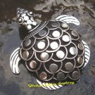 Sterling Silver Antique Look Turtle Pin Pendant BC-169-KT