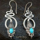 Sterling Silver Turquoise Snake Earrings ER-568-NY