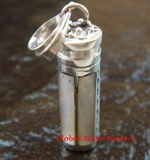 Sterling Silver MoP Shell Perfume / Cremation Pendant PP-360-PS