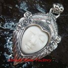 Sterling Silver Bali Face Goddess Pendant GDP-1162-PS
