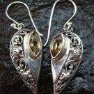 925 Sterling Silver Bali Citrine Designer Earrings ER-589-KT