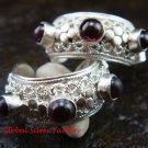 Gorgeous 925 Silver Bali Design Garnet Earrings ER-595-NY