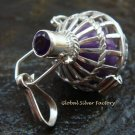 18mm Harmony Ball Pendant With Amethyst HB-332-KT