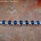 Nine Lapis Lazuli Adjustable Tennis Bracelet in 925 Silver SBB-419-KT