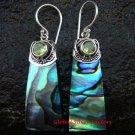 925 Silver Paua Shell Earrings w/ Gem ER-613-KT