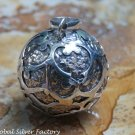 Sterling Silver Asteroid Surface Chime Ball Pendant CH-363-KT