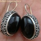 Large 925 Silver & Black Onyx Earrings ER-694-KT