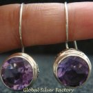 Sterling Silver & 10mm Amethyst Bali Earrings ER-714-PS