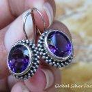 Sterling Silver and Amethyst Gemstone Earrings ER-796-KT