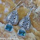 Sterling Silver and Blue Topaz Gemstone Earrings ER-803-KT
