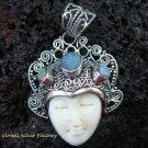 Sterling Silver & Opal Goddess Pendant GDP-963-KT