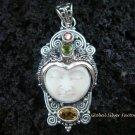 925 Silver & Multi Gems Goddess Pendant GDP-794-PS