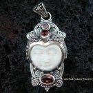 925 Silver & Garnet Goddess Pendant GDP-796-PS
