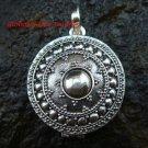 Round 925 Silver Bali Locket Pendant LP-195-IKP