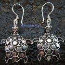 Sterling Silver Turtle / Tortoise Earrings SE-182-KT
