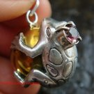 Sterling Silver Frog Chime Ball Pendant CH-143-KT