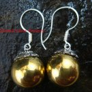 Silver Balinese Chime Ball Earrings CBE-101-KA