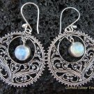 925 Silver Moonstone Bali Ornate Design Earrings ER-518-KT