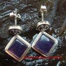 Sterling Silver Square Amethyst Earrings ER-637-KT
