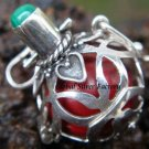 925 Silver Malachite Harmony Ball Pendant HB-118-KT