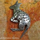 Sterling Silver Kangaroo Brooch BC-184-KT
