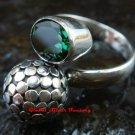 New Model Bali Sterling Silver Dot Ring w/ Gem RI-361-KT